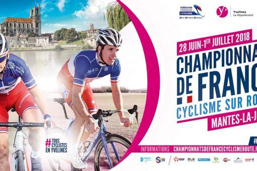Championnats de France Route - 28 juin - 1er juillet à Mantes La Jolie