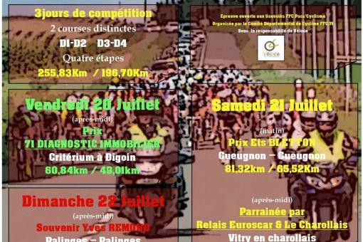RONDE SUD BOURGOGNE - 20-21-22 Juillet 2018