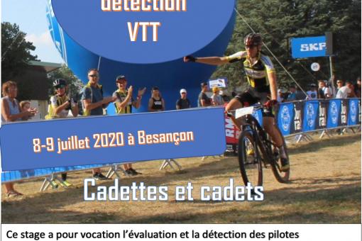 Stage detection cadets/cadettes VTT