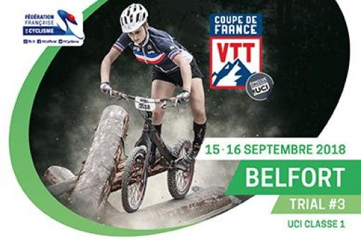 COUPE DE FRANCE VTT TRIAL - BELFORT - du 15 au 16 Septembre 2018