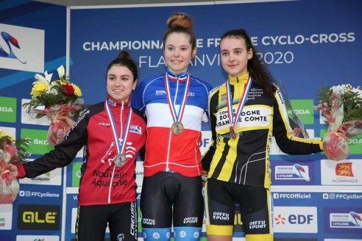 Championnats de France cyclo-cross, 4 médailles !
