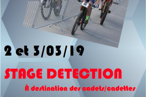 Stage détection cadets/cadettes VTT ouvert à tou(te)s!